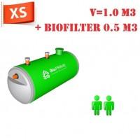 BioPrime 1,0 м3+0,5 м3 биофильтр