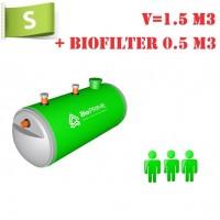 BioPrime 1,5 м3+0,5 м3 биофильтр