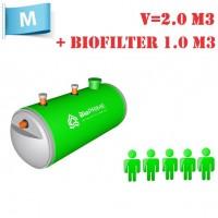 BioPrime 2,0 м3+1,0 м3 биофильтр