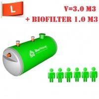 BioPrime 3,0 м3+1,0 м3 биофильтр
