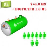 BioPrime 4,0 м3+1,0 м3 биофильтр