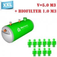 BioPrime 5,0 м3+1,0 м3 биофильтр