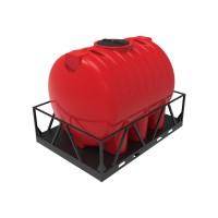 Емкость КАС 5000 HR красный в обрешетке