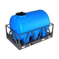 Емкость H 2000 с крышкой с дыхательным клапаном синий в обрешетке