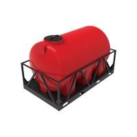 Емкость КАС 3000 Н красный в обрешетке