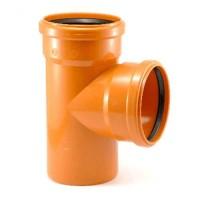 Тройник пластик 110х110х90 оранжевый Политрон