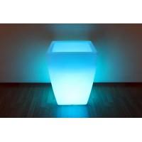"""Белое световое кашпо """"Flox"""", малое, с беспроводной RGB подсветкой"""