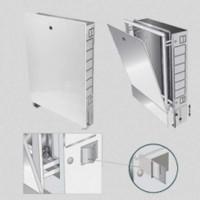 Шкаф коллекторный металлический встраиваемый UNI-FITT 494х670-760х125-195