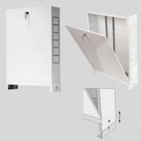 Шкаф коллекторный металлический встраиваемый UNI-FITT 490х670-760х125-195