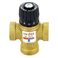 """Клапан В термосмесительный Uni-Fitt 3/4"""" 20-43°С, Kvs 1,6 смешение боковое"""