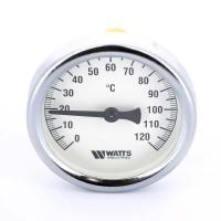 Термометр биметаллический F+R801 63мм с погружной гильзой WATTS Ind 120 град.C гильза 50мм