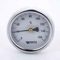 Термометр биметаллический F+R801 63мм с погружной гильзой WATTS Ind 160 град.C гильза 50мм