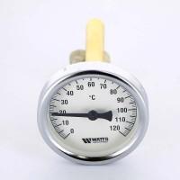 Термометр биметаллический F+R801 63мм с погружной гильзой WATTS Ind 120 град.C гильза 100мм