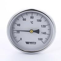 Термометр биметаллический F+R801 100мм с погружной гильзой WATTS Ind 160 град.C гильза 100мм