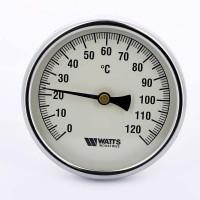 Термометр биметаллический F+R801 100мм с погружной гильзой WATTS Ind 120 град.C гильза 50мм