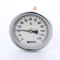 Термометр биметаллический F+R801 100мм с погружной гильзой WATTS Ind 120 град.C гильза 150мм
