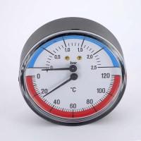 Термоманометр аксиальный F+R818 WATTS Ind 2,5бар 120 град.C