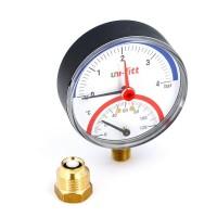 """Термоманометр радиальный 1/2"""" UNI-FITT 4 бар 80мм"""