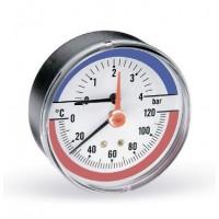 Термоманометр аксиальный F+R818 WATTS Ind 2,5бар 120 град.C (без логотипа)