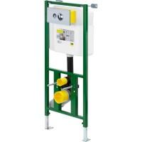 Инсталляция Eco Plus для навесного унитаза с настенным крепежом VIEGA с кнопкой Visign for Life1 1130х490мм