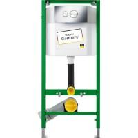Инсталляция Eco Plus VIEGA комплект для унитаза 1130мм c кнопкой Visign for style 10 и крепежом