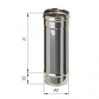 Дымоход Ferrum 1м Ф150 (430/0,5мм)