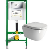 Комплект Viega Eco 713386 + унитаз GSI Pura 881211 + сиденье SoftClose MS86CN11 + крепеж FISR2