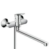 Смеситель для ванны HansGrohe HG Logis длинный излив хром
