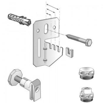 Комплект для крепления стальных панельных радиаторов VOGEL&NOOT для радиаторов типа KV (нижнее подключение) длиной более 1600мм