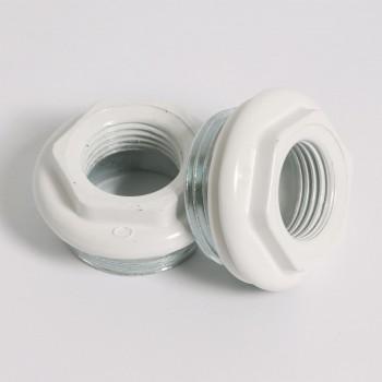 """Комплект для подключения радиатора с силиконовой прокладкой TORIDO 1""""х1/2"""" RAL9010"""