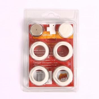 """Комплект для подключения радиатора с плоской прокладкой TORIDO 1""""х3/4"""" RAL9010"""