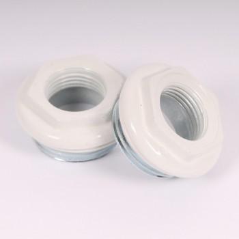 """Комплект для подключения радиатора с плоскими штырьевыми кронштейнами (3 шт) с силиконовой прокладкой Tiemme 1""""х1/2"""" RAL9010"""