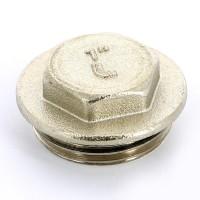 """Заглушка Н UNI-FITT 1"""" с прокладкой O-RING никелированная"""
