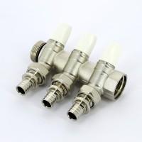 Коллектор G1 Rehau 3 отвода G 3/4 + переходник евроконус 20-G 3/4 (3 шт.)